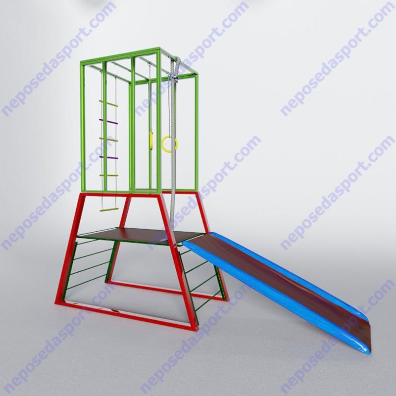 Детский спортивный комплекс Веселая Горка-Качели 2
